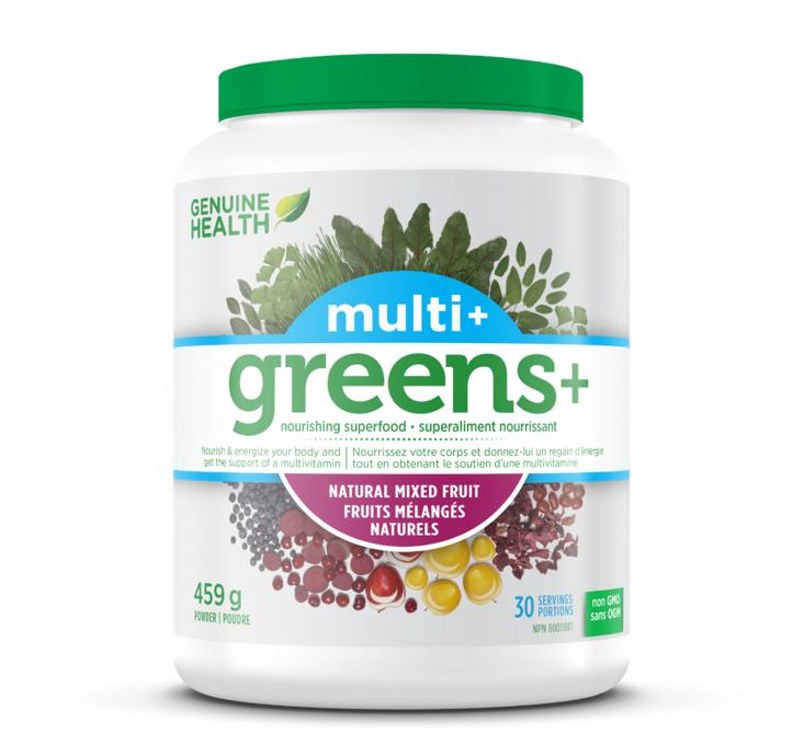 Genuine Health Greens + Multi Plus Mixed Fruit Powder 459g