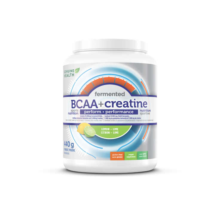 Genuine Health Fermented BCAA + Creatine Lemon-Lime Powder 440g