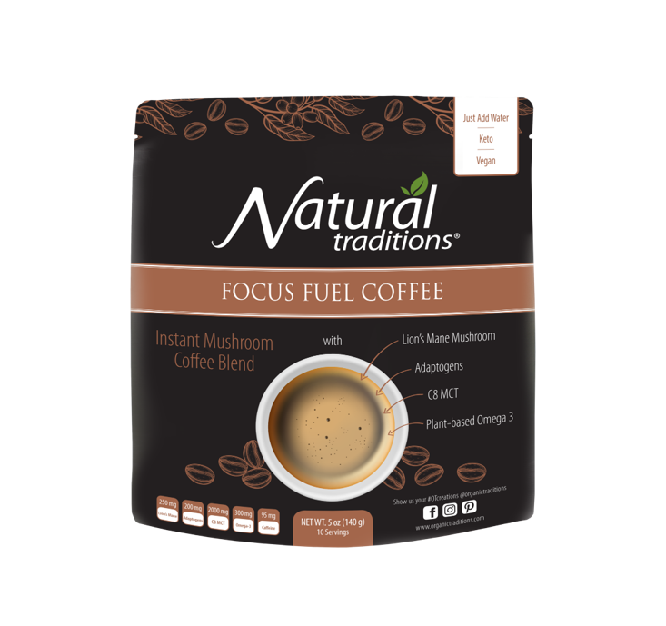 Organic Traditions Focus Fuel Coffee 140g