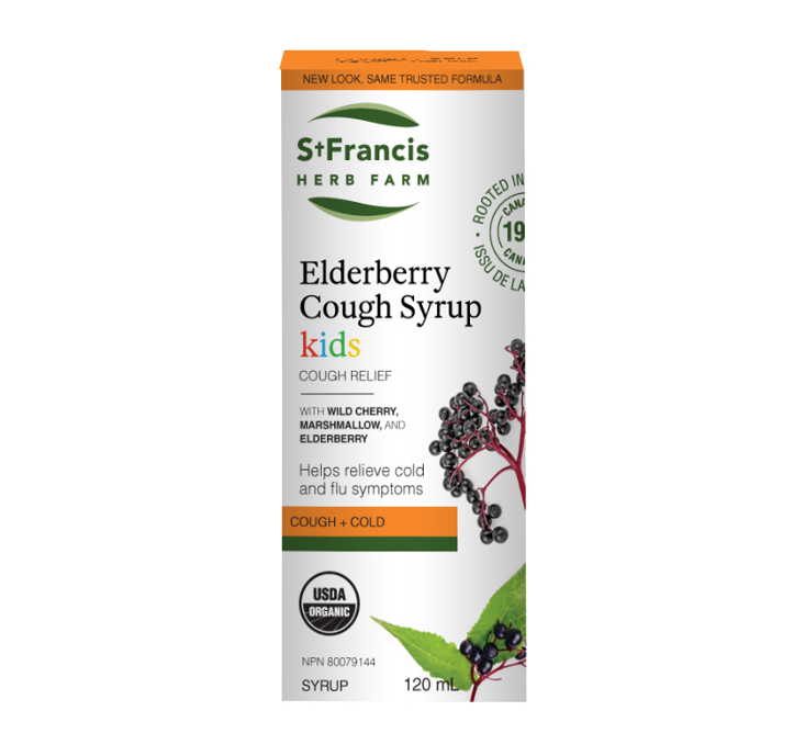 St. Francis Herb Farm Elderberry Cough Syrup for Kids 120ml