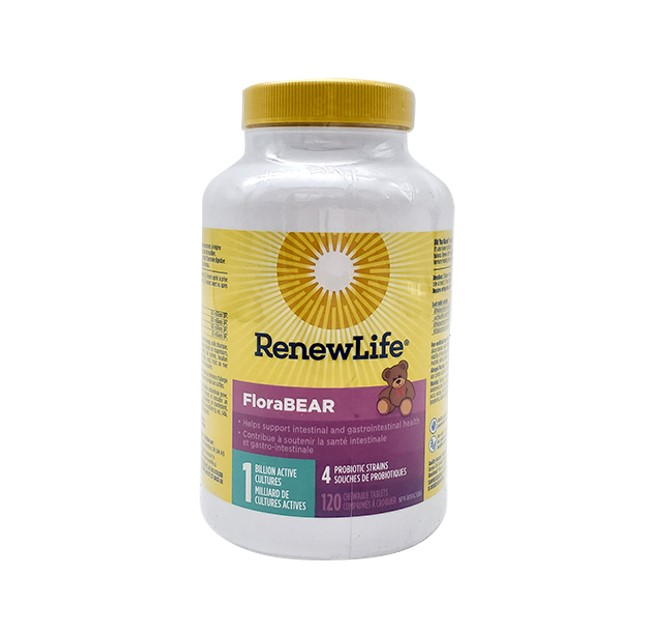 Renew Life FloraBEAR 1 Billion Active Cultures 120 Chewable Tablets