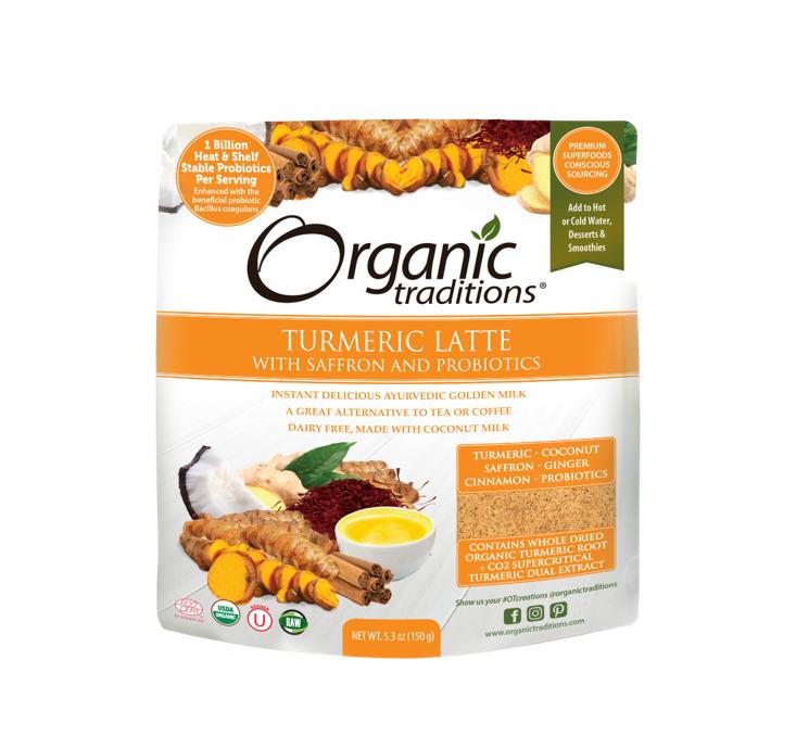Organic Traditions Organic Turmeric Latte with Probiotics 150g