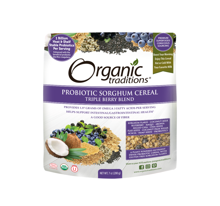 Organic Traditions Organic Probiotic Sorghum Cereal Triple Berry Blend 200g