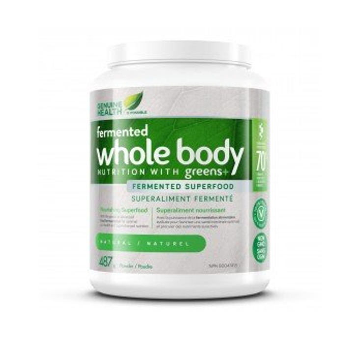 Genuine Health Fermented Whole Body Nutrition with Greens + Natural 487g