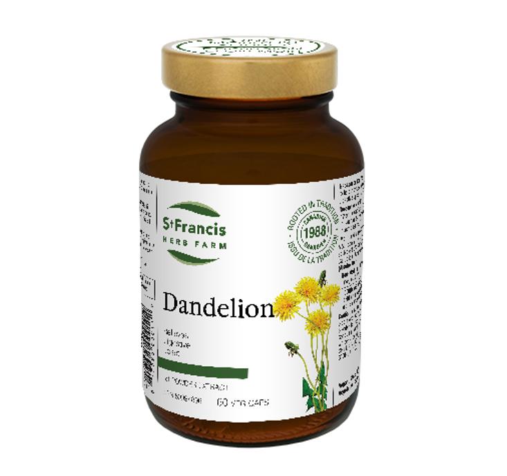 St. Francis Herb Farm Dandelion 60 VeggiCaps