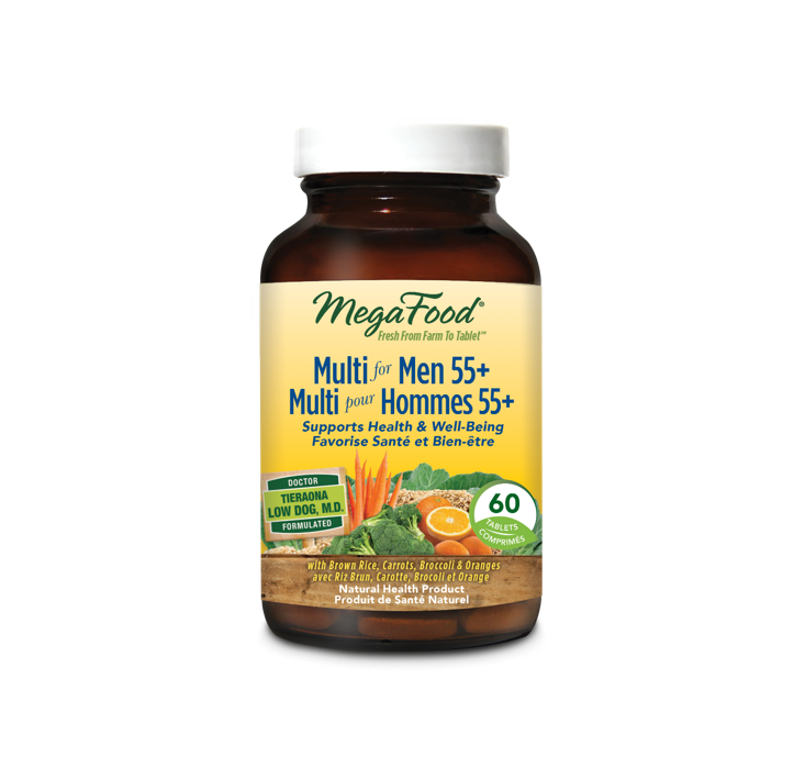MegaFood Multi for Men 55+ 60 Tablets