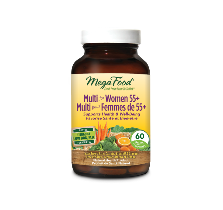 MegaFood Multi for Women 55+ 60 Tablets