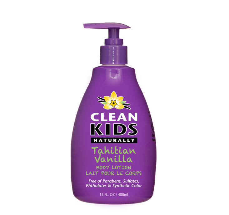 Clean Kids Naturally Tahitian Vanilla Body Lotion 480ml