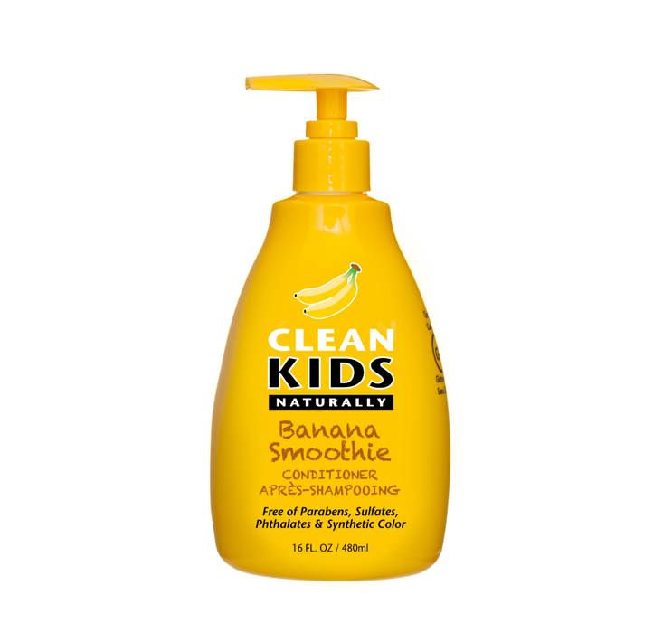 Clean Kids Naturally Banana Smoothie Conditioner 480ml