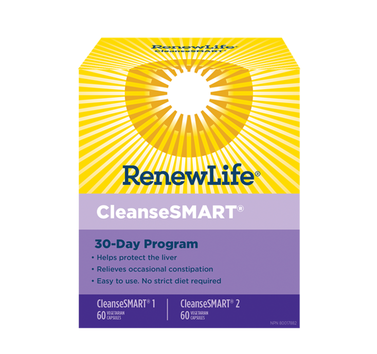 Renew Life CleanseSMART KIT 30 Day Program Full Body Cleanse