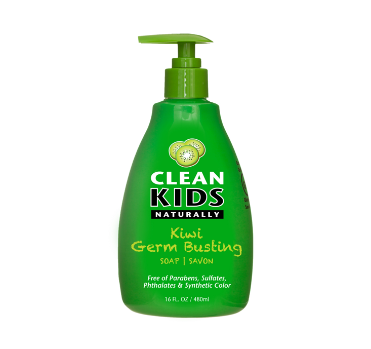 Clean Kids Naturally Kiwi Germ Busting Soap 480ml