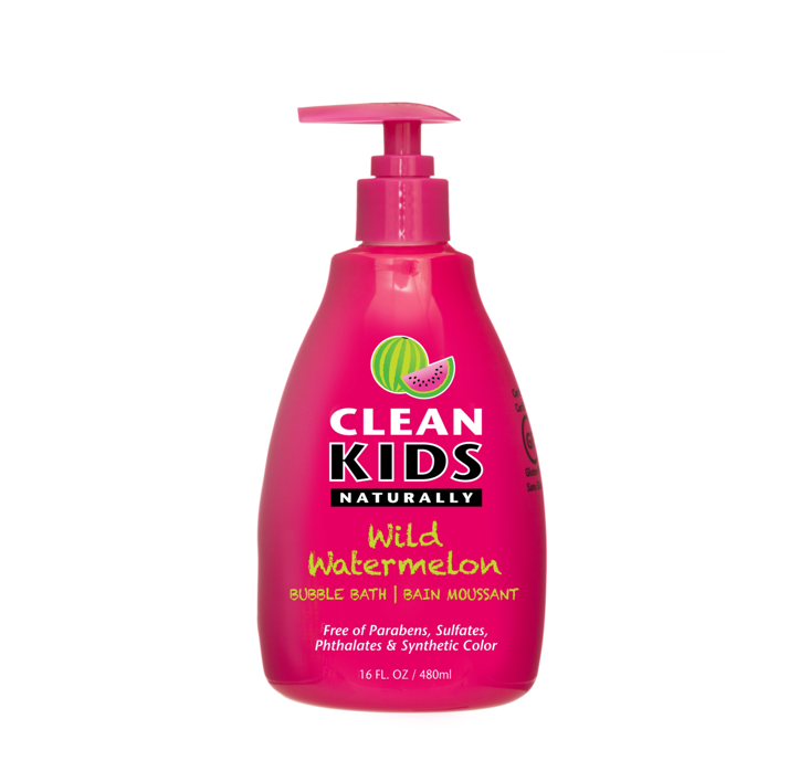 Clean Kids Naturally Wild Watermelon Bubble Bath 480ml