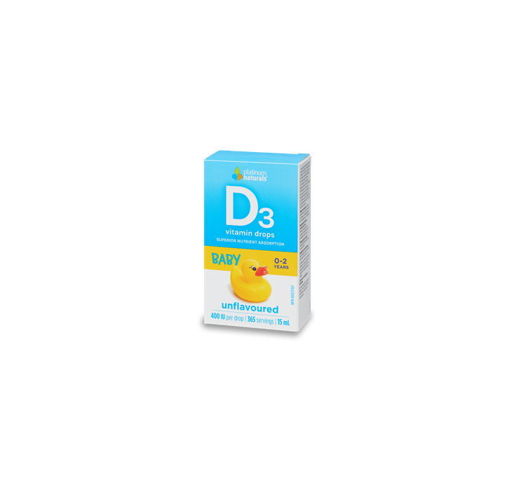 Platinum Naturals Vitamin D3 Drops for Babies 15ml
