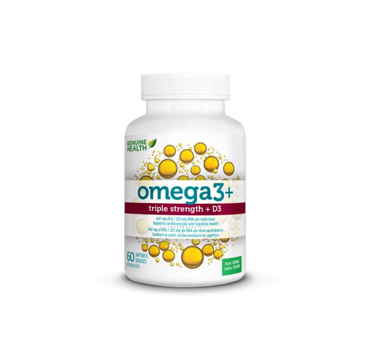 Genuine Health Omega3+ Triple Strength & D3 60 Capsules