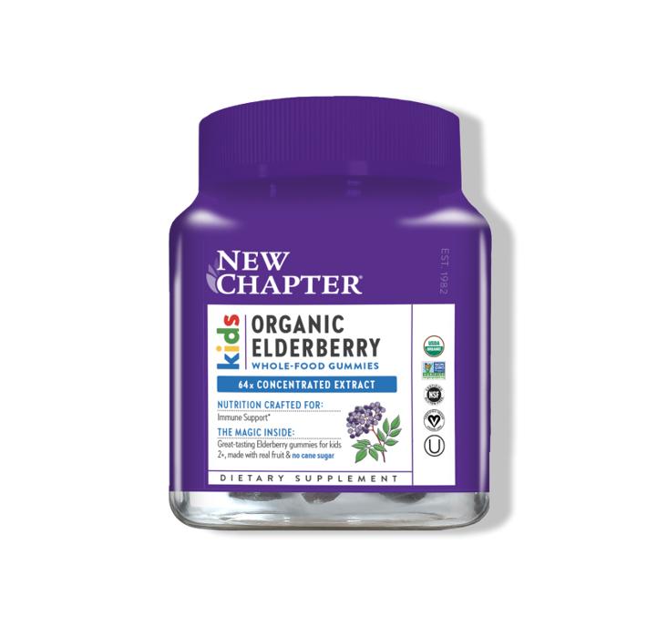 New Chapter Organic Elderberry Kids Gummy 30 Count
