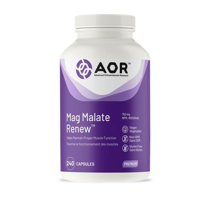 AOR Mag Malate Renew 240 Capsules