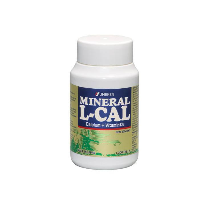 Umeken Mineral L-Calcium 130g - 2 month supply (1,300 balls)
