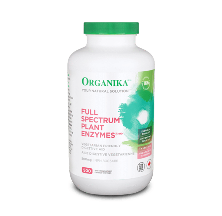 Organika Full Spectrum Plant Enzymes 500 mg 500 Vegi-Capsules