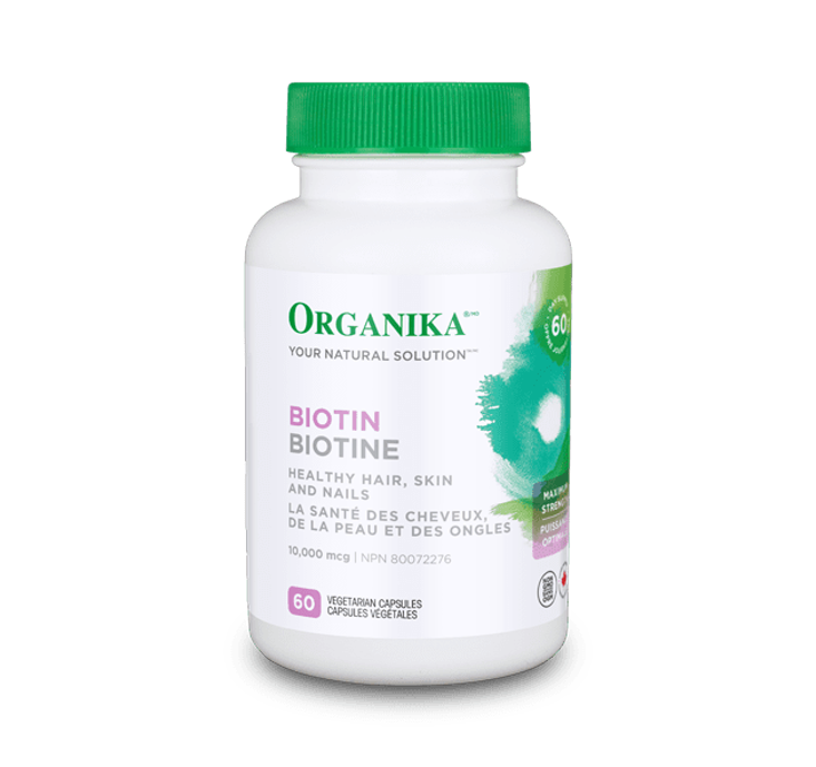 Organika Biotin 10,000MCG 60 Capsules