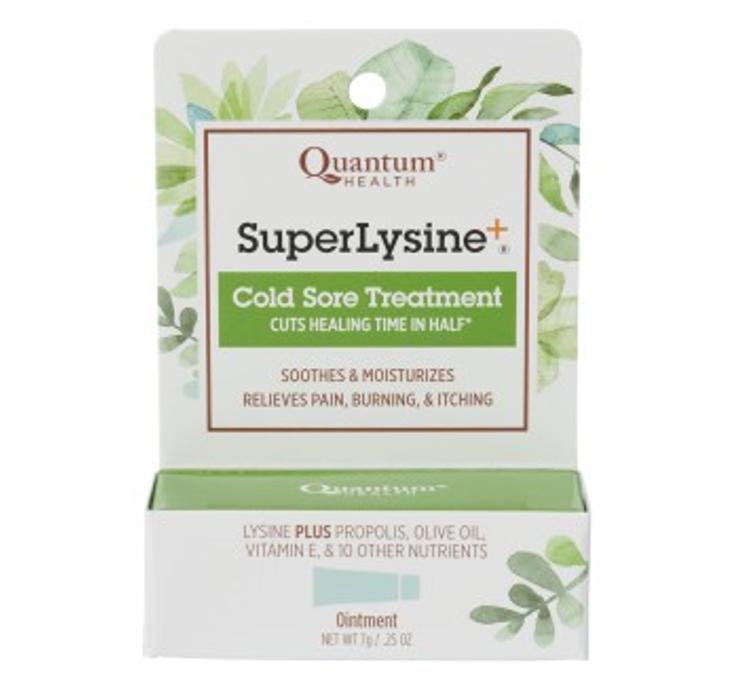 Quantum Health Super Lysine + Ointment, Cold Sore Treatment