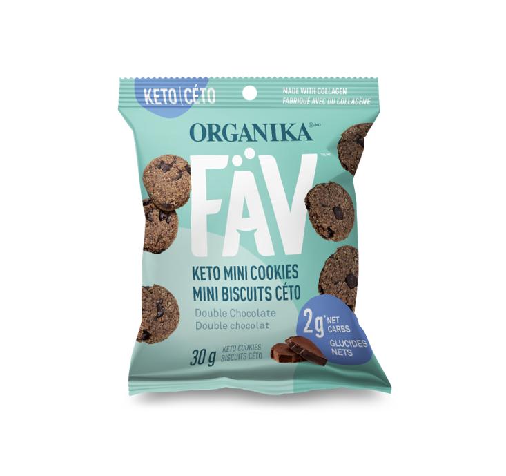 Organika FÄV Keto Mini Cookies - Double Chocolate 30g