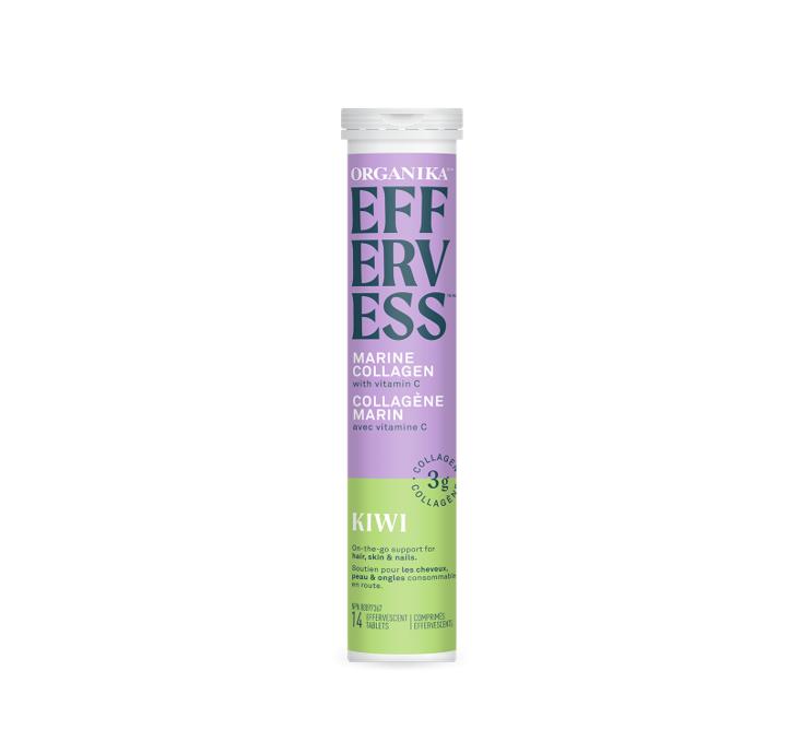 Organika Effervess - marine collagen and vitamin C effervescent - Kiwi 1tube (14tablets)