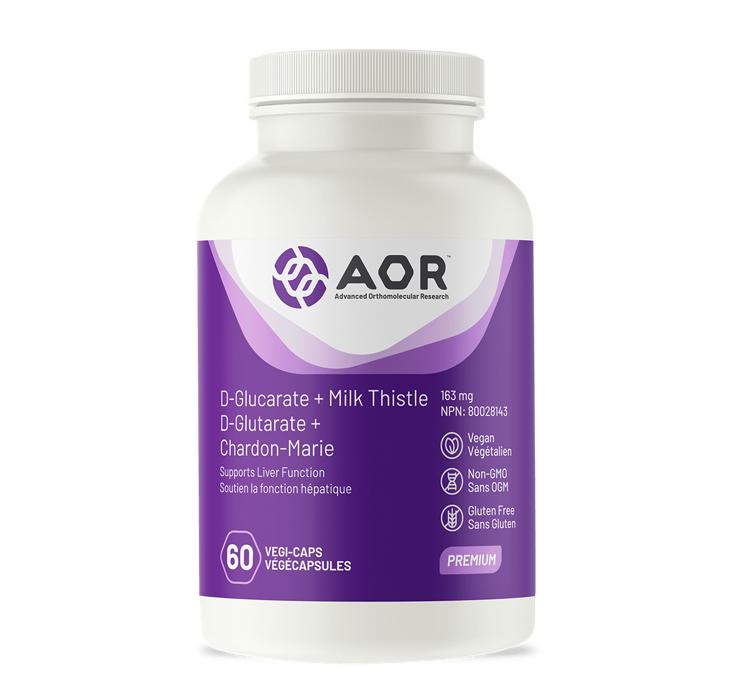 AOR D-Glucarate + Milk Thistle 60Vcaps