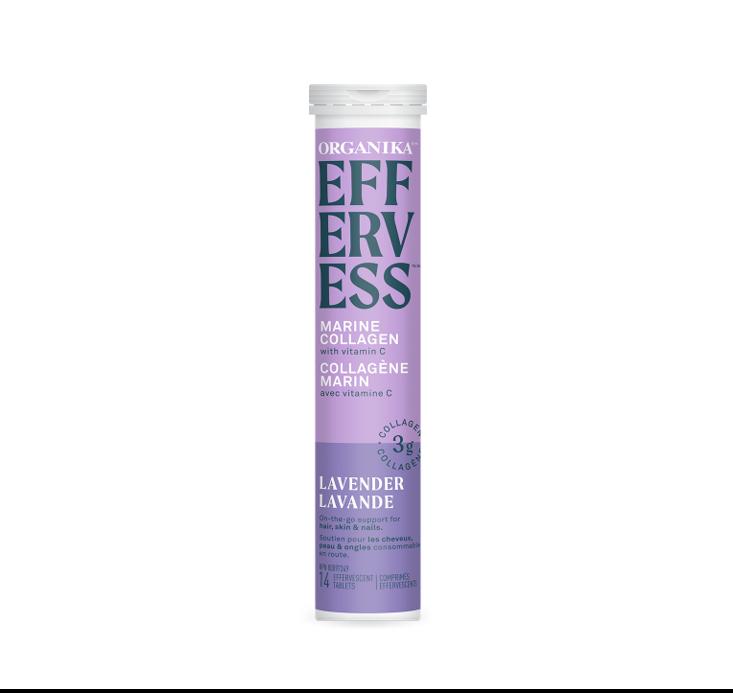 Organika Effervess - marine collagen and vitamin C effervescent - Lavender 1tube (14 tablets)