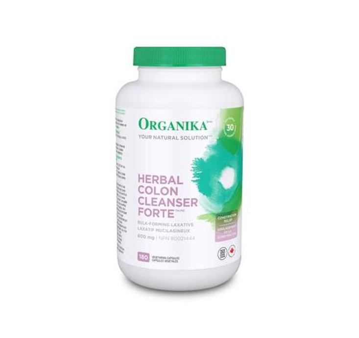 *Limited stock* Organika Herbal Colon Cleanser Forte 600mg 180 Capsules