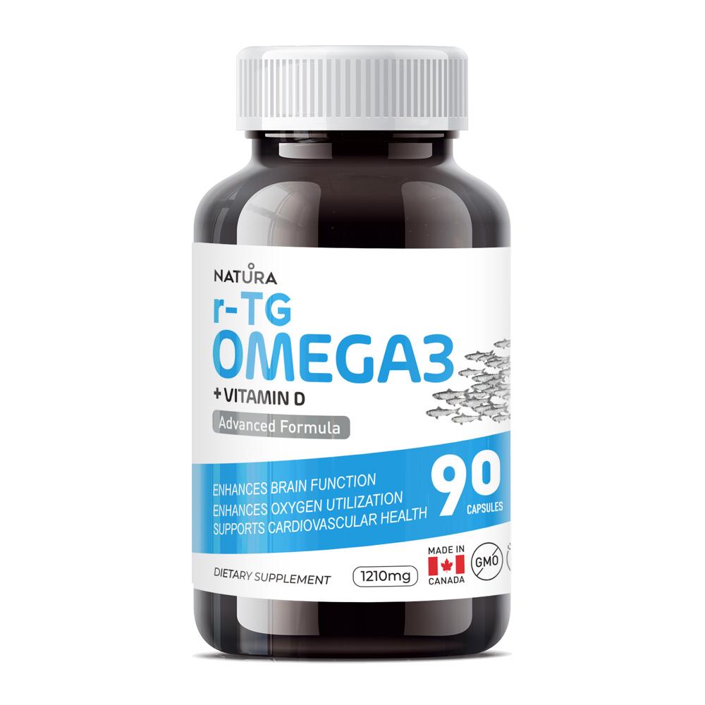 NATURA rTG Omega3 + Vitamin D Advanced Formula 90 Capsules