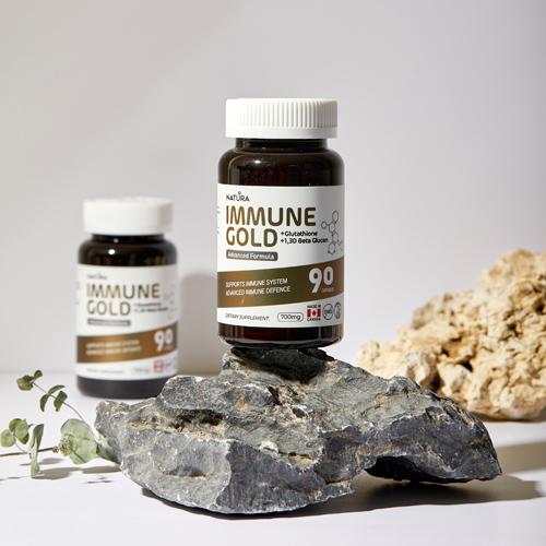 Immune Gold 1,3d Beta Glucan Glutathione Chaga - 90 Capsules
